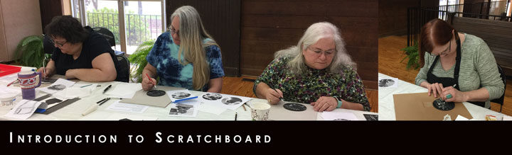 Last Saturday's Scratchboard Class
