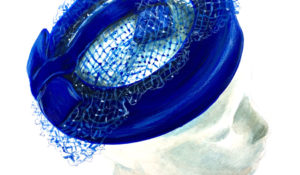 Blue Velvet Pillbox Hat