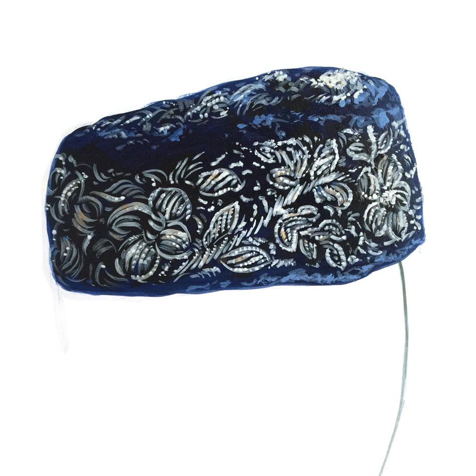 beaded cap painting
