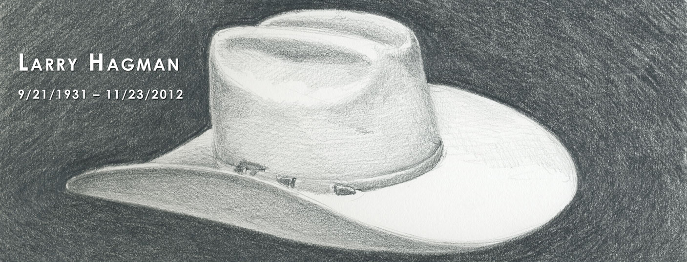 white stetson hat drawing
