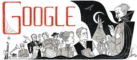 Bram Stoker art for Google