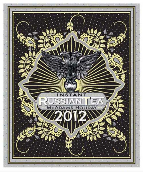 label for russian tea 2012 in scratchboard and illustrator