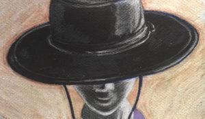 black leather bolero hat