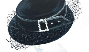 brimmed rhinestone hat